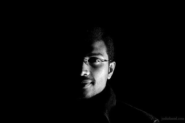Low key portrait of male model Ajesh Oommen