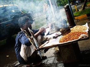 Channawala from a street in Mumbai, India
