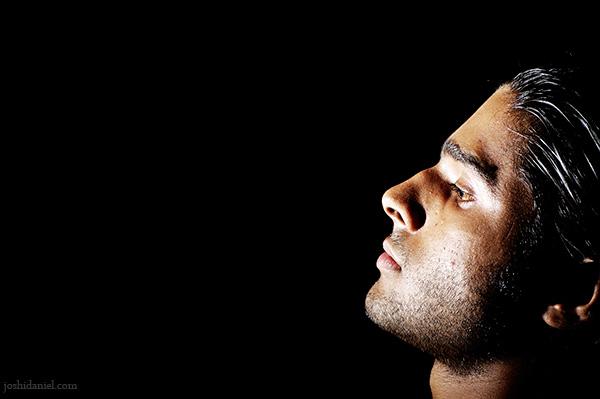 Dark portrait of male model Kiran Menon