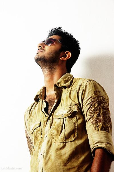 Portrait of male model Siddharth Reghunath