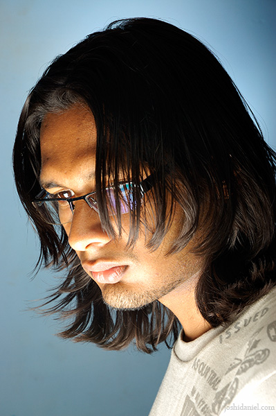 Portrait of male model Roopak R Nair