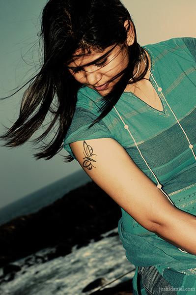 Outdoor portrait of female model Neeraja Bose