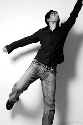 Fashion portrait of male model Kiran Mohan