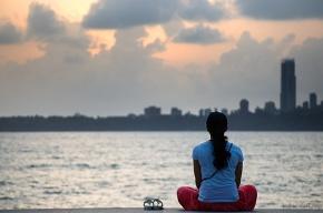 A relaxed Girl at Marine Drive, Mumbai, India
