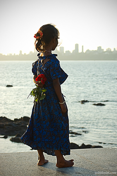 Shattered dreams of a cute little girl who sells roses in marine drive mumbai