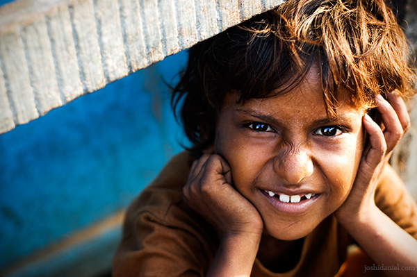 Portrait of a young boy from a street in Mumbai