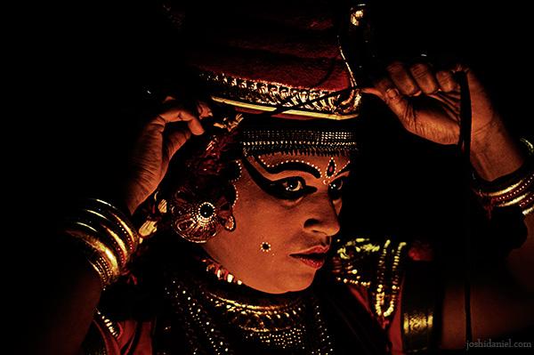 Margi Usha getting ready for the Nangiarkoothu