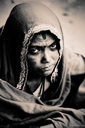 Portrait of a woman with an intense look frorm Bangalore, India