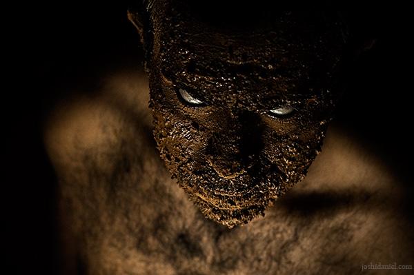 Devilish portrait of Om Prakash Varma
