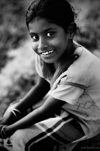Infectious smile of a cute little girl from Vizhinjam, Trivandrum