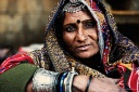 portrait of a rajasthani woman from jaisalmer fort