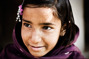 Portrait of a young girl from Rajasthan