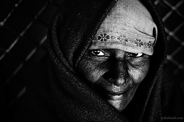 Portrait of a lady from Jodhpur in Rajasthan