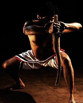 Kalaripayattu demonstration by Raam Kumar with Otta