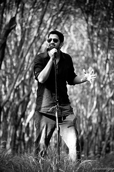Black and white portrait of singer Job Kurian