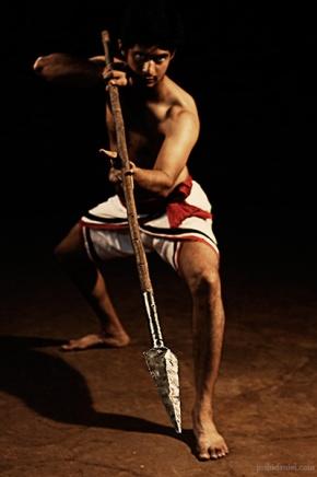Kalaripayattu demonstration by Raam Kumar with Kuntham (spear)