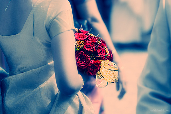 A bride with bouquet