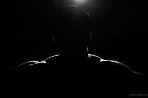 In the dark self-portrait of joshi daniel