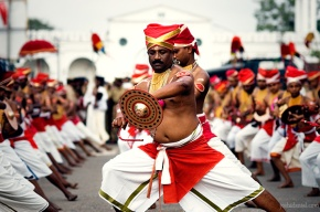 Velakali performace in front of Sree Padmanabhaswamy temple in Trivandrum, Kerala