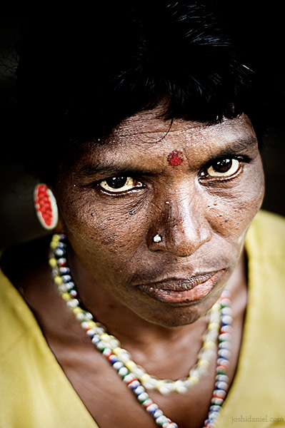 A paniya tribe woman from Wayanad, Kerala