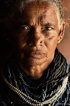 Portrait of a Halakki tribe woman from Karnataka