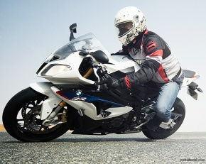 Govind Janardanan riding a BMW S1000RR