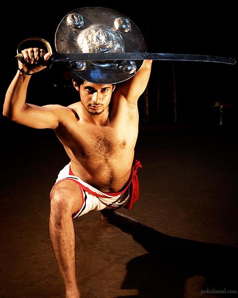 Kalaripayattu demonstration by Raam Kumar with Valum Parichayum (Sword and Shield)