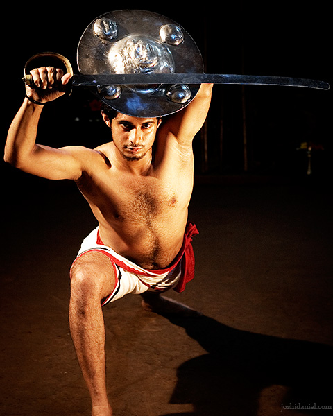 Kalaripayattu demonstration by Raam Kumar with Valum Parichayum (Sword and Shield)