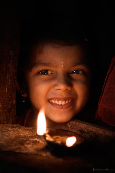 Smile of a cute little girl from Karnataka