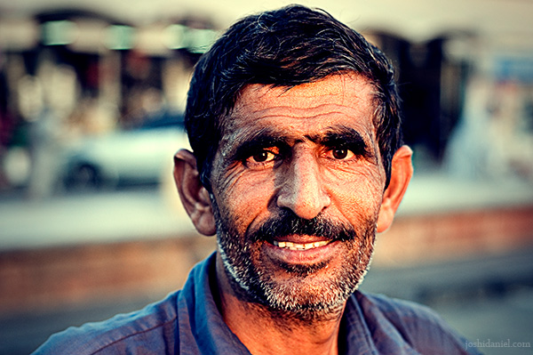 Portrait of a smiling man from Dubai fish market