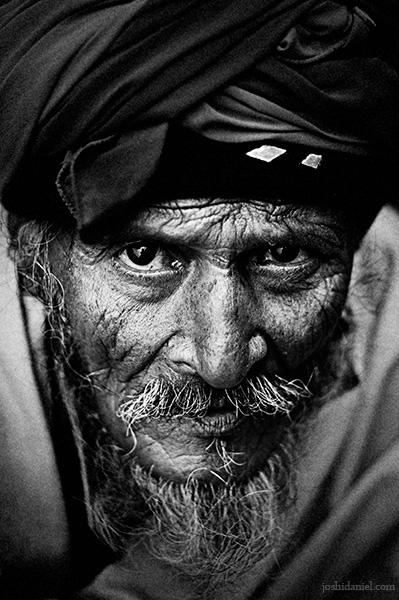 A fierce looking bearded man from Jaipur