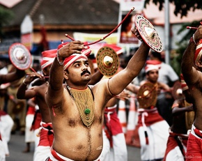 Velakali performace in front of Sree Padmanabhaswamy temple in Trivandrum, Kerala