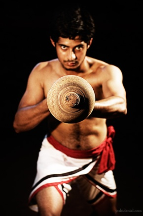 Kalaripayattu demonstration by Raam Kumar with Gada (club)