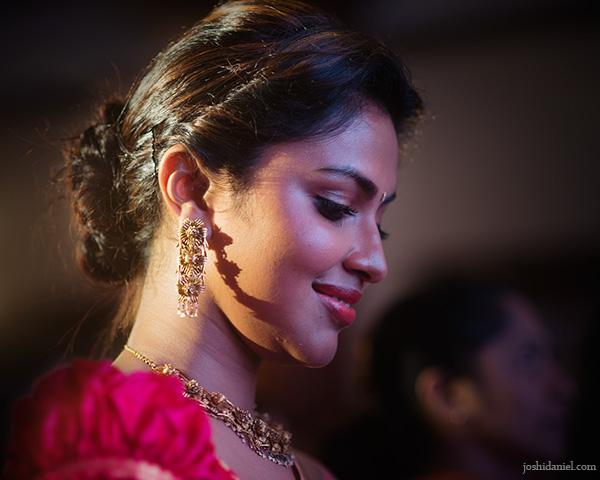 Portrait of Indian actress Amala Paul smiling