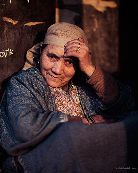 Portrait of a Kashmiri roti seller