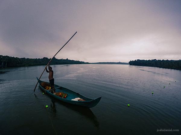 Monsoon fishing in Vellayani lake in Trivandrum, Kerala shot with a GoPro.