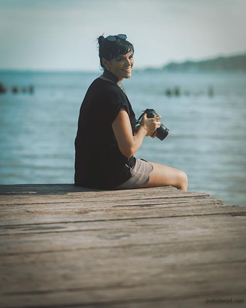 Portrait of Skye Gilkeson in Senggarang village in Bintan island, Indonesia