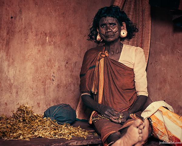 Portrait of a tribal woman form Wayanad, Kerala