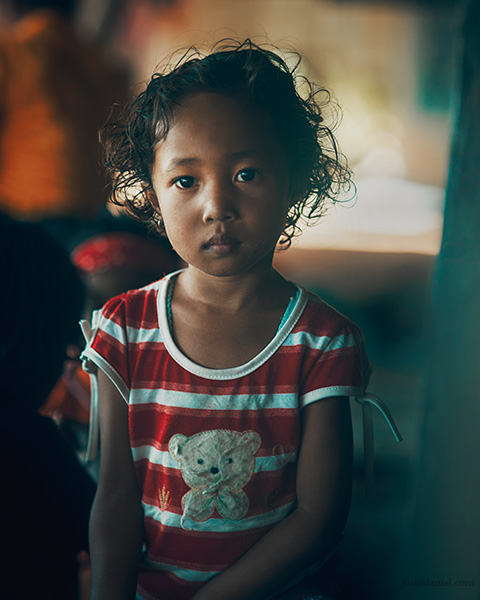 Portrait of a girl from Melo village, Flores, East Nusa Tenggara, Indonesia