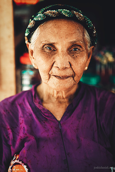 Portrait of a lady from Mesa Island, Flores, Indonesia