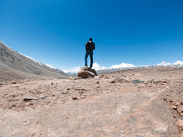 A GoPro Self-portrait of joshi daniel taken at Chandratal, Spiti Valley, Himachal Pradesh, India during the Skoda Kodiaq expedition