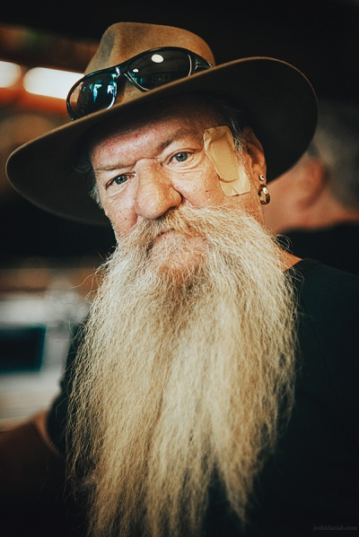 Portrait of a bearded man from Sydney, New South Wales, Australia