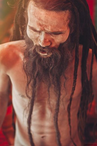 Portrait of a sadhu in Varanasi, Uttar Pradesh, India