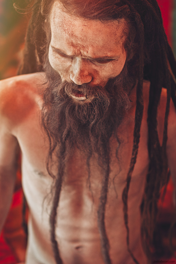Portrait of a sadhu in Varanasi, Uttar Pradesh, India