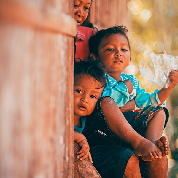 Curious little boys from Melo village, Flores, East Nusa Tenggara, Indonesia