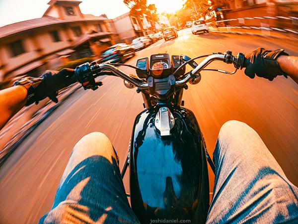 Yamaha RX-135 ride in Trivandrum, Kerala